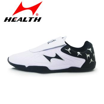 Zdrowie Taekwondo buty dla dorosłych mężczyzn i kobiet dzieci miękkie dno buty szosowe Taekwondo buty treningowe dla początkujących tanie i dobre opinie Wrestling buty Zdrowia Cotton Fabric Skóra Pasuje prawda na wymiar weź swój normalny rozmiar Średnie (b m) Hook loop