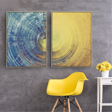 Ronde Lijnen Kleurverloop Niveau Verbeelding Abstract Dark Universe Nordic Canvas Painting Muur Posters Home Decor(China)
