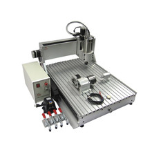 Newest 3D CNC Router 6090 with 1.5KW water coolde spindle 4 axis metal carving