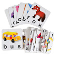 BOHS Paper Puzzle Vocabulary Literacy Cards Early Learning Toy ,1set=20pcs