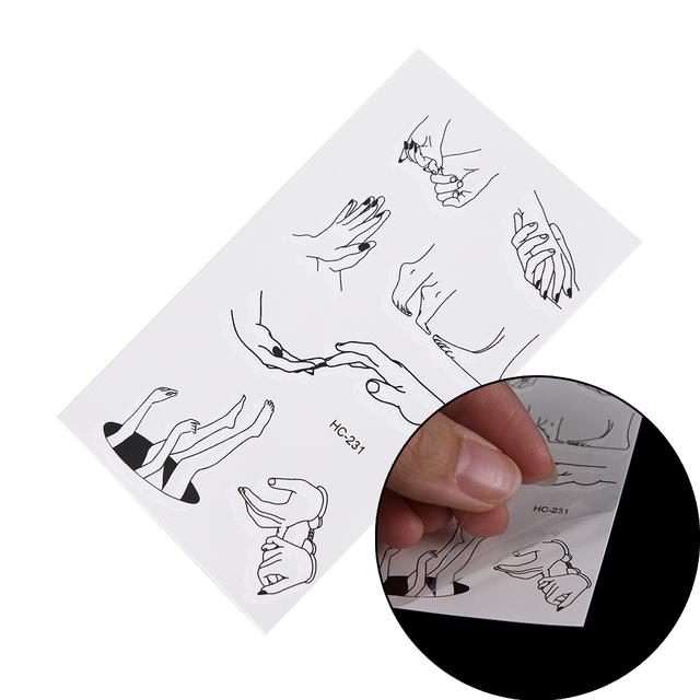 1 Sheet of Temporary Tattoo Sticker Fake Flash Tattoo Sticker Fingers Toes Body Art Sexy Waterproof Temporary Tattoo