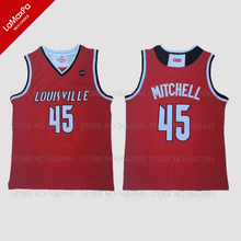 a5505606359 Cheap Donovan Mitchell University of Louisville No.45 Basketball Jerseys  Throwback Stitched Retro High Quality