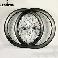 LEADXUS Full T700 Carbon Fiber 700C Disc Brake Carbon Wheelset 58mm Carbon Wheels 791 792 Hubs Disk Rims Road Bike Wheel