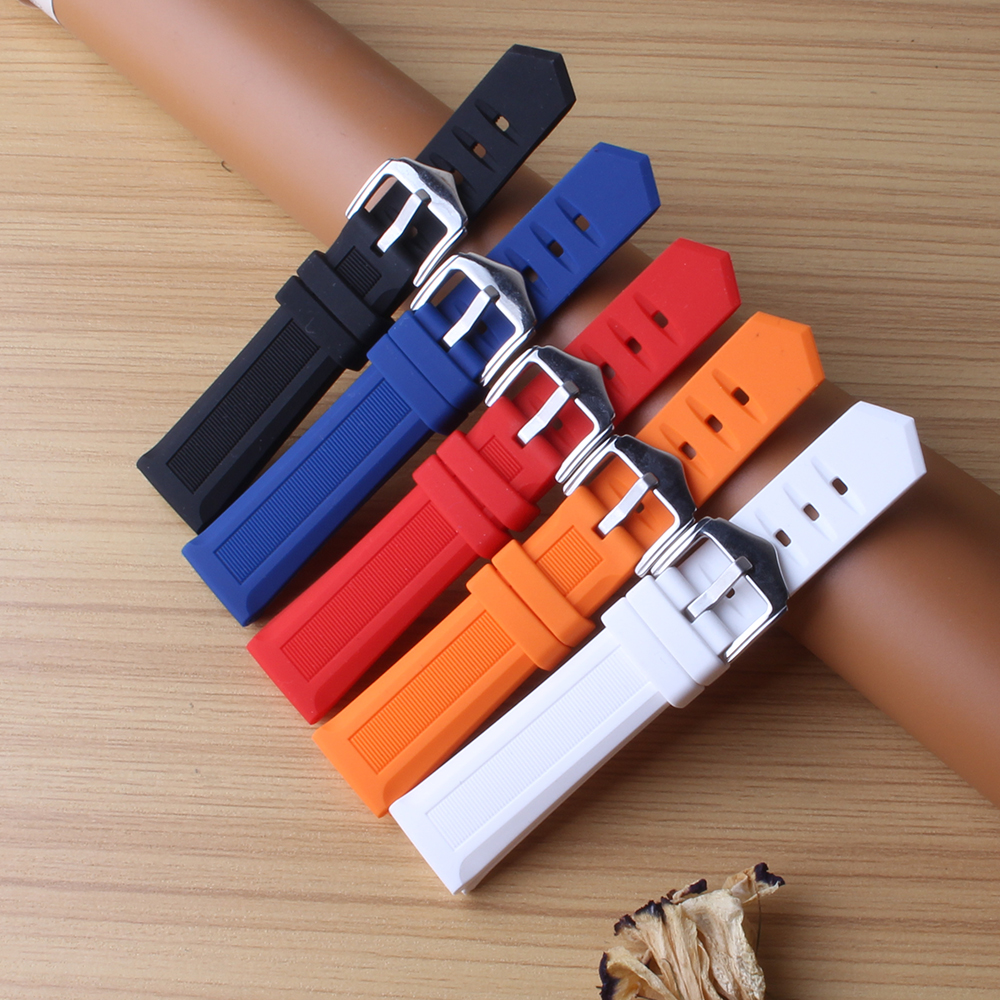 Black Blue Red Orange White Watchbands fashion soft rubber silicone watch band strap 16mm 18mm 20mm 22mm new arrival replacement лампа настольная supra sl tl300 silver