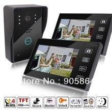 HD 7 «2.4 ГГц Wireless Video Door Phone Vidoe Домофон Дверной Звонок Главная Безопасности ИК-Камера Ночного Видения Монитор 150 М Передачи