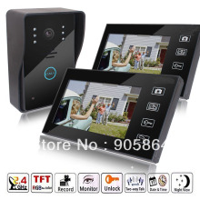 HD 7″ 2.4GHz Wireless Video Door Phone Vidoe Intercom Doorbell Home Security IR Camera Monitor Night Vision 150M Transmission
