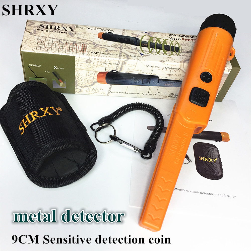 SHRXY Gold Detector Scanner Pointer TRX Pro Pinpoint GP-pointerII Waterproof Hand Held Static Metal Detector With Bracelet