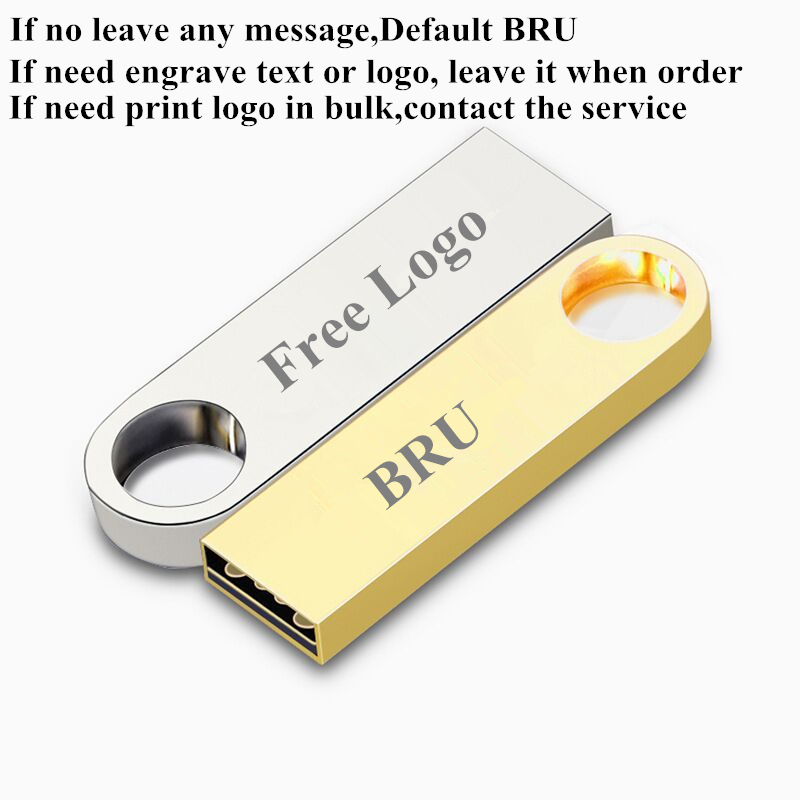 BRU USB Flash Drive 4GB8GB Mini Metal Waterproof Pendrive USB Flash Stick Creative Gift Custom Logo Print Laser Engrave text in USB Flash Drives from Computer Office