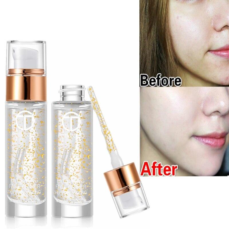 Visage Primer Base de Maquillage Sous Pores 24 K Or Rose Huile Elixir Maquillage Professionnel Hydratant Pour Le Visage Essentiel Mat Amorce