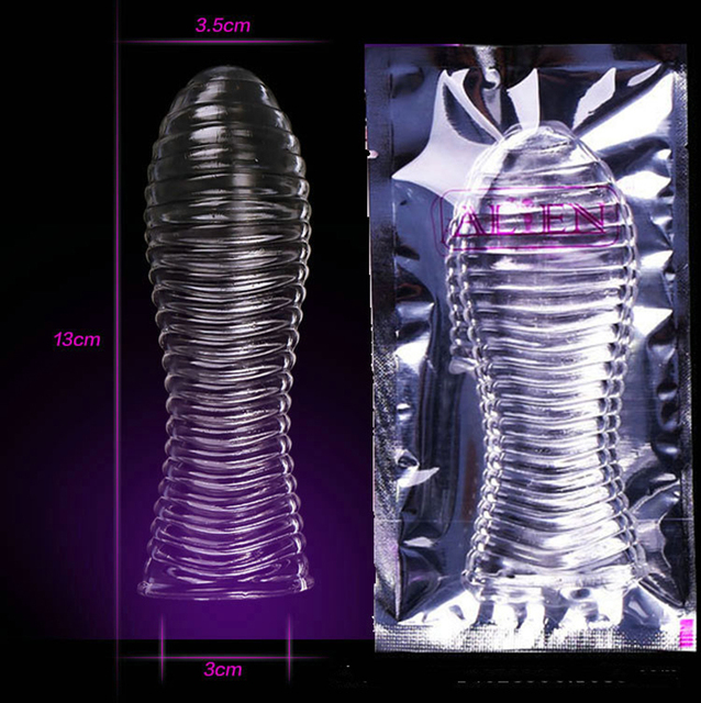 condom Penis Extensions,Penis Sleeve,Stimulating Penis Extension Sleeve, Adult Sex Toys For men,Sex Products