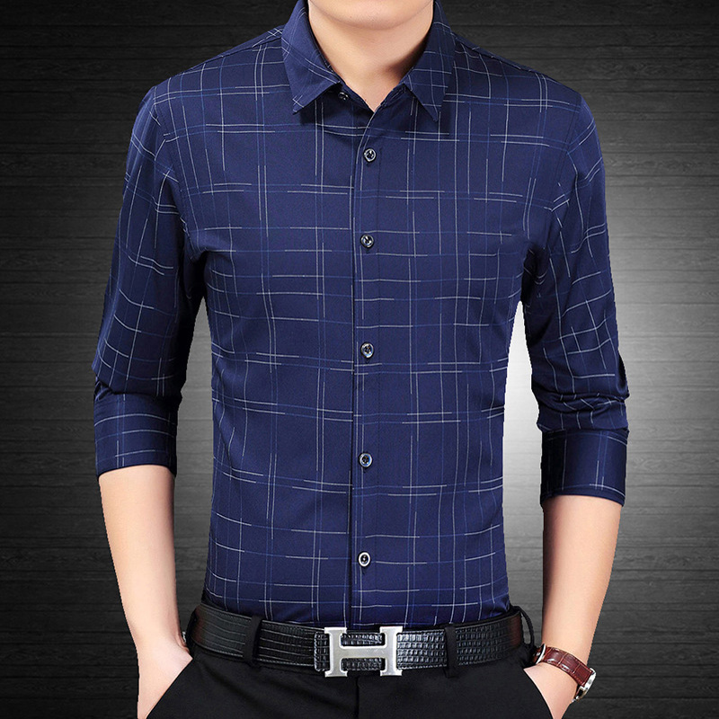 Men Shirt Long Sleeve Camisa Slim Fit Shirt Fashion   Printed Male Shirt Styles Business Casual Men's Shirts High Quality