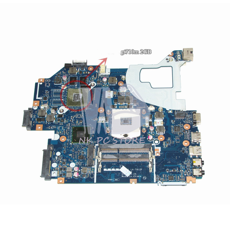 NBM6A11001 NB.M6A11.001 Main Board For Acer aspire V3-571G Laptop Motherboard DDR3 LA-7912P GeForce GT710M Video Card original laptop motherboard for acer e1 571 q5wv1 la 7912p rev 2 0 nbm6b11001 nb m6b11 001 gt710m non integrated graphics card