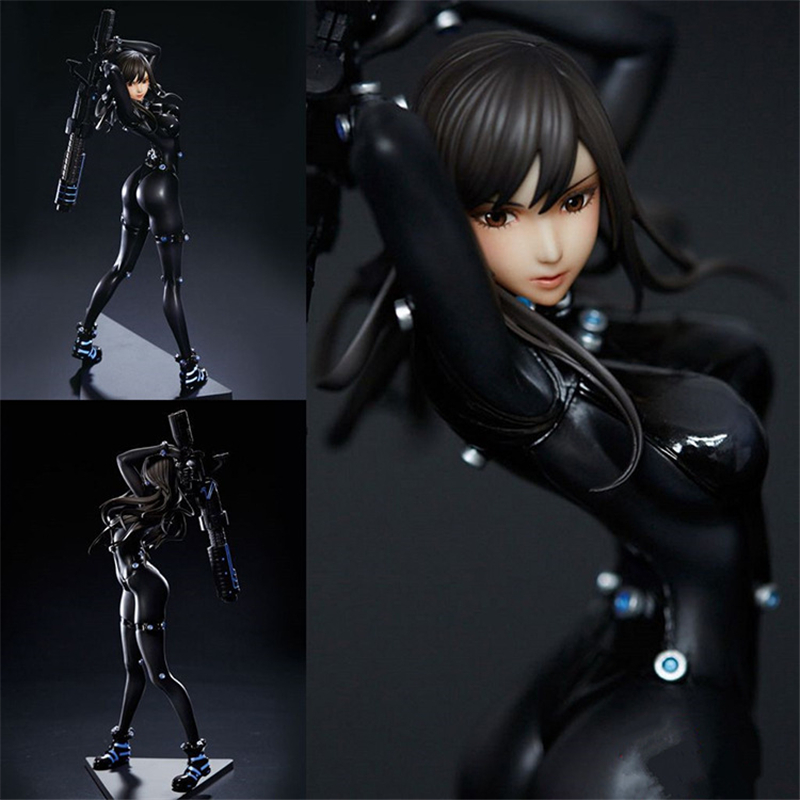 Japanese anime GANTZ Shimohira reika Sexy Combat dress PVC Action Figure Collectible Model doll toy Gentleman toys HZW048 wt 023 53 62mm graphics card cooling head silver black copper