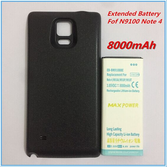 high capacity 8000mah replacement extended battery for samsung galaxy note 4 iv n9100 bateria. Black Bedroom Furniture Sets. Home Design Ideas