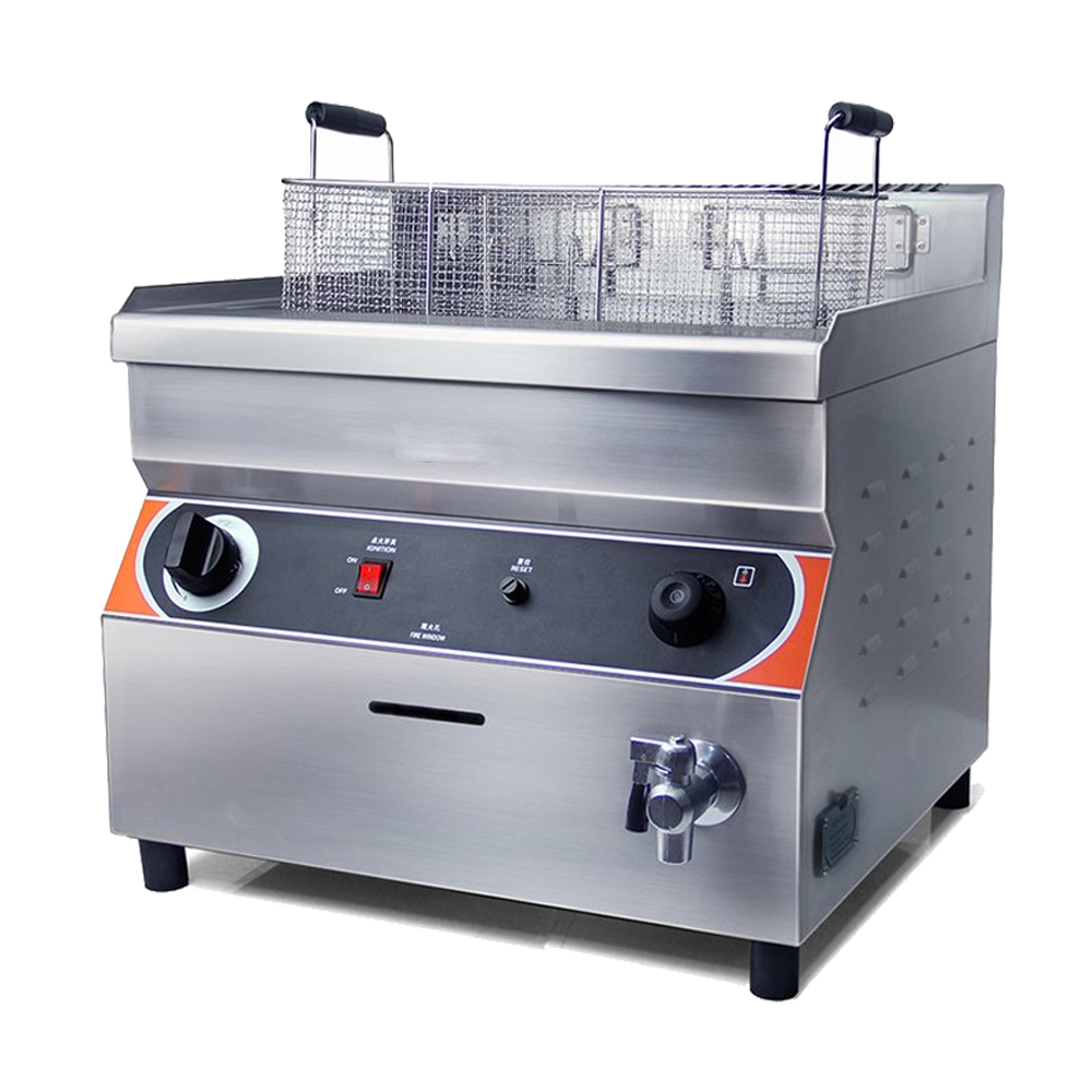 32L Large Capacity Stainless Steel Professional Industrial LPG Gas Deep Fat Fryer 1pc gas type stainless steel food fryer french fries fryer potato deep fryer deep fat gas fryer