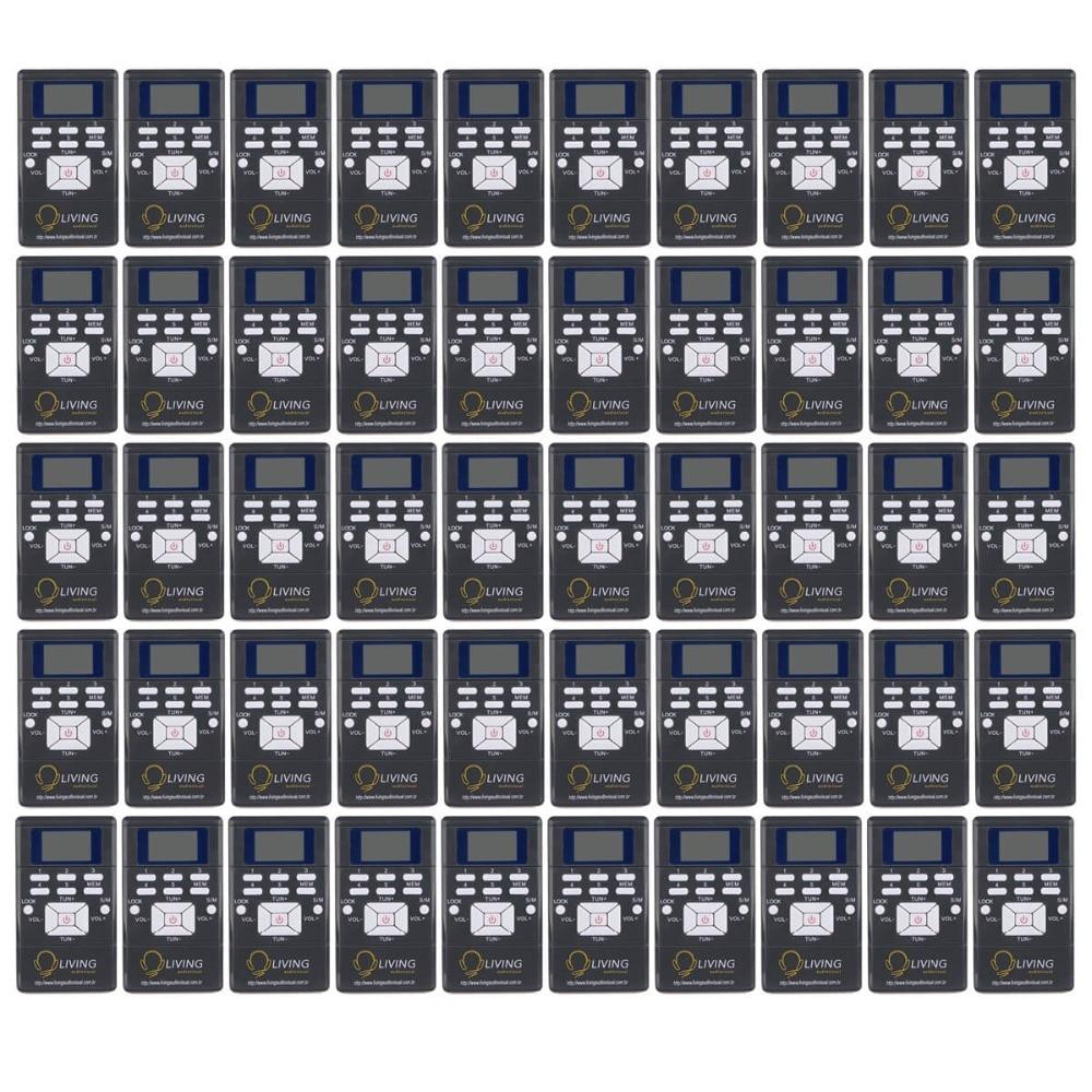 50pcs Black DSP Radio Portable FM Radio Receiver Pocket Radio for Large meeting with Earphone Best Y4305C 5pcs pocket radio 9k portable dsp fm mw sw receiver emergency radio digital alarm clock automatic search radio station y4408