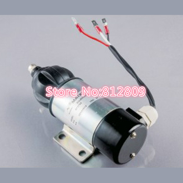 Fuel Stop Shut Off Shutdown Solenoid OE52318 3924450 2001es 12 fuel shutdown solenoid valve for cummins hitachi