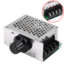 1Pc AC Regulator 4000W 220V AC SCR  Motor Speed Controller Module Voltage Regulator Dimmer For Water Heater Mayitr цены