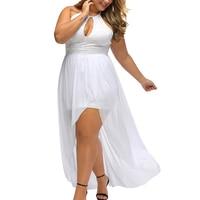 2017 Avond Sexy Club Vestido Blanco Braces Sleutel Gat Slit Mesh Kleding Feestjurk Maxi Vrouw Night Prom Kleding Mori meisje