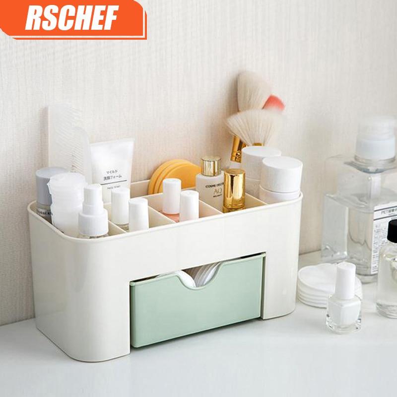 RSCHEF تخزين المجوهرات مربع مستحضرات - التنظيم والتخزين في المنزل