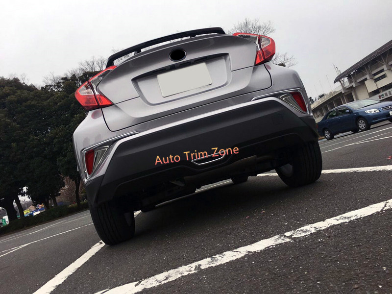 Car Styling 1pcs Stainless Steel Rear Brake Light Lamp Frame Cover Trim For Toyota C-hr Chr 2016 2017 2018 Exterior Accessories