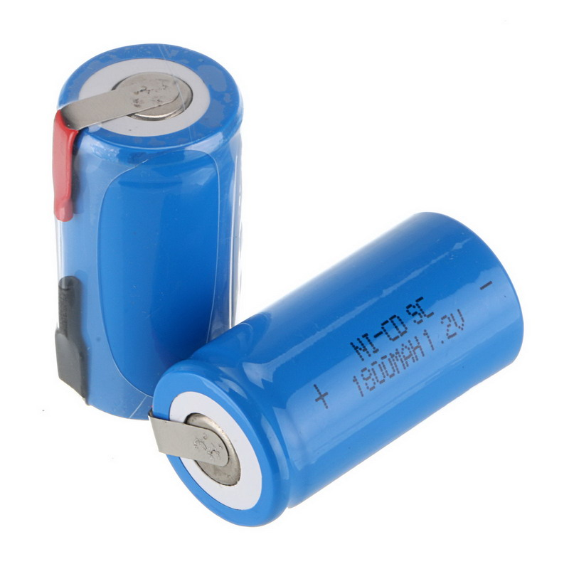 High Quality 10 pcs Sub SC Battery Ni-Cd Battery Rechargeable Battery 1800mh with Tab