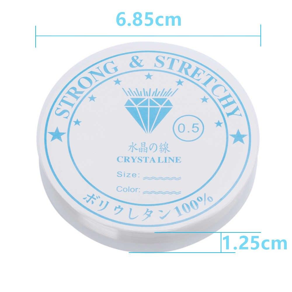 1 rolka kryształowe elastyczne koraliki Making bransoletka i naszyjnik biżuteria frezowanie przewód ciąg nici DIY elastyczna sztuka szycia