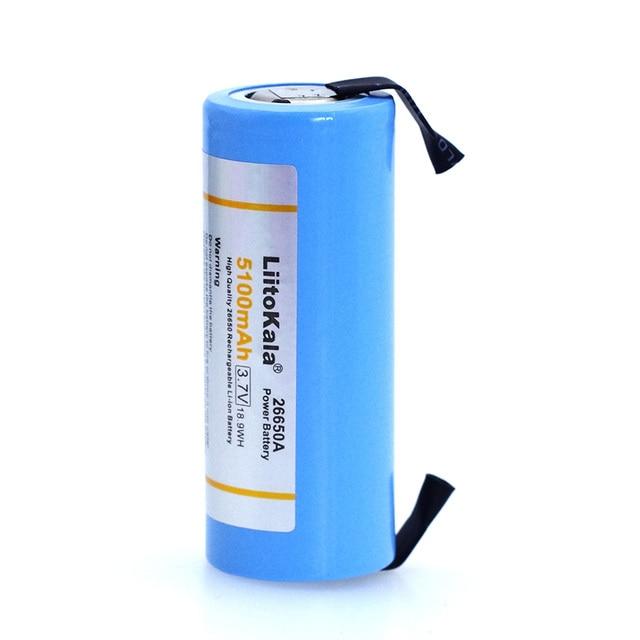2018 Liitokala 26650 аккумуляторная батарея, 26650A литиевая батарея, 3,7 в 5В 100мА 26650-50A синий. Подходит для фонарика + никеля