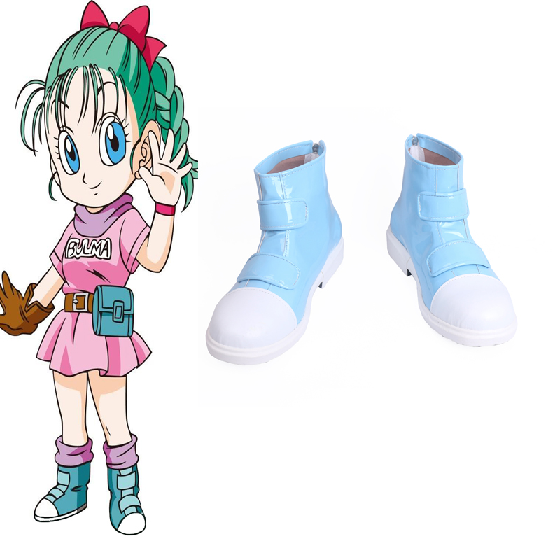 Dragon Ball Bulma Blue Cosplay Shoes Boots Halloween Carnival Party Cosplay Costume Accessories
