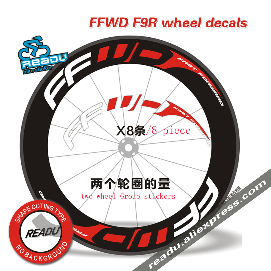 Hot outdoor bicycle sticker ffwd f9r road bicycle wheel group stickers suitable for 80 88 rims for two wheel decals bike sticker