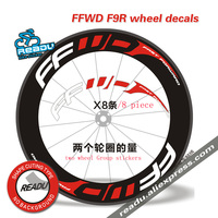 Hot Outdoor Bicycle Sticker FFWD F9R road Bicycle wheel Group stickers Suitable for 80/88 rims for two wheel decals bike sticker