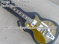Top Selling Brown Tiger Flame Joe Bonamassa Silver Hardware LP Custom Electric Guitars with Bigsby
