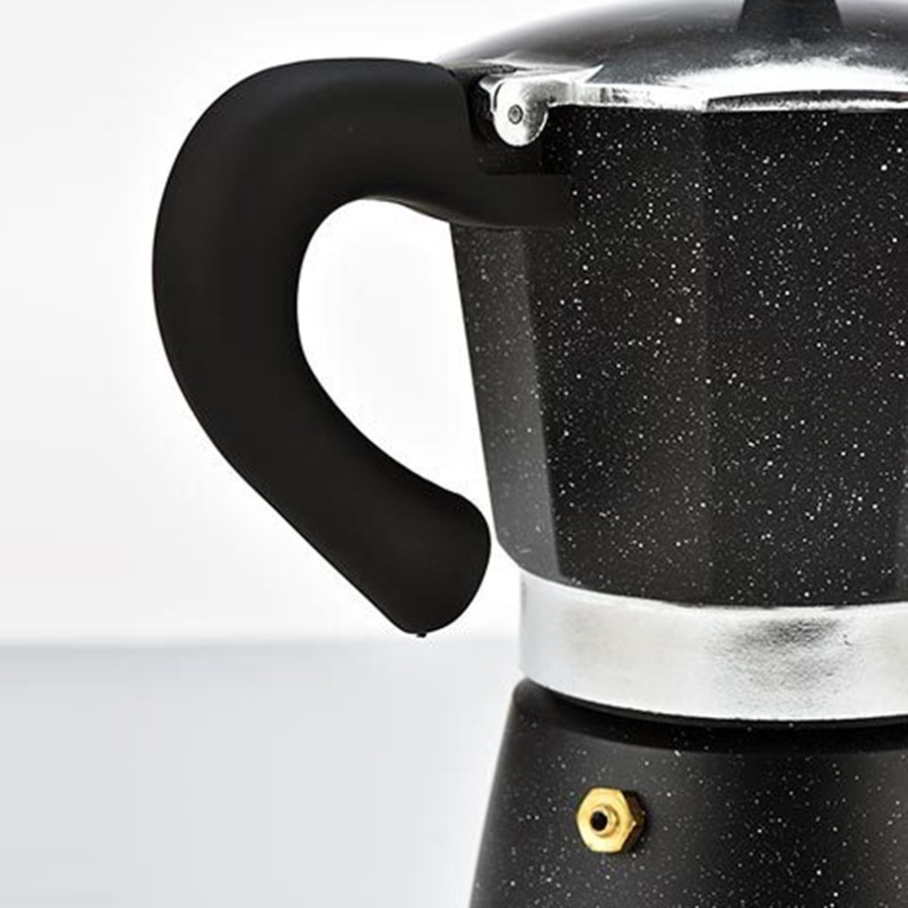 Black Portable Multi Color Aluminum Stovetop Electrical Espresso Coffee Moka Pot Maker Heating Filter Latte Cup for Home Office