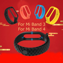 Sillcone Mi band 3 Strap for Xiaomi Band Watchband Replacement Miband Xiomi mi 4