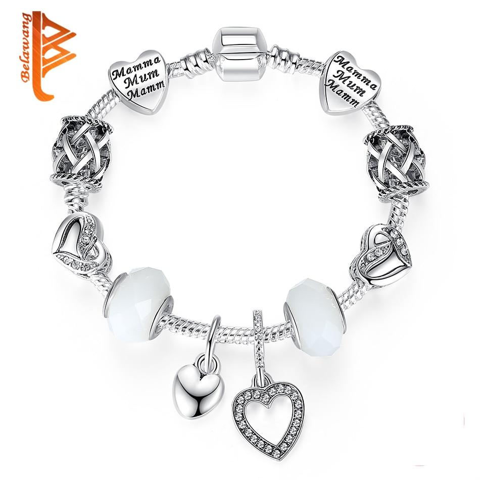 BELAWANG Marca Original Charm Bracelet para Mujeres Con Exquisito - Bisutería - foto 6