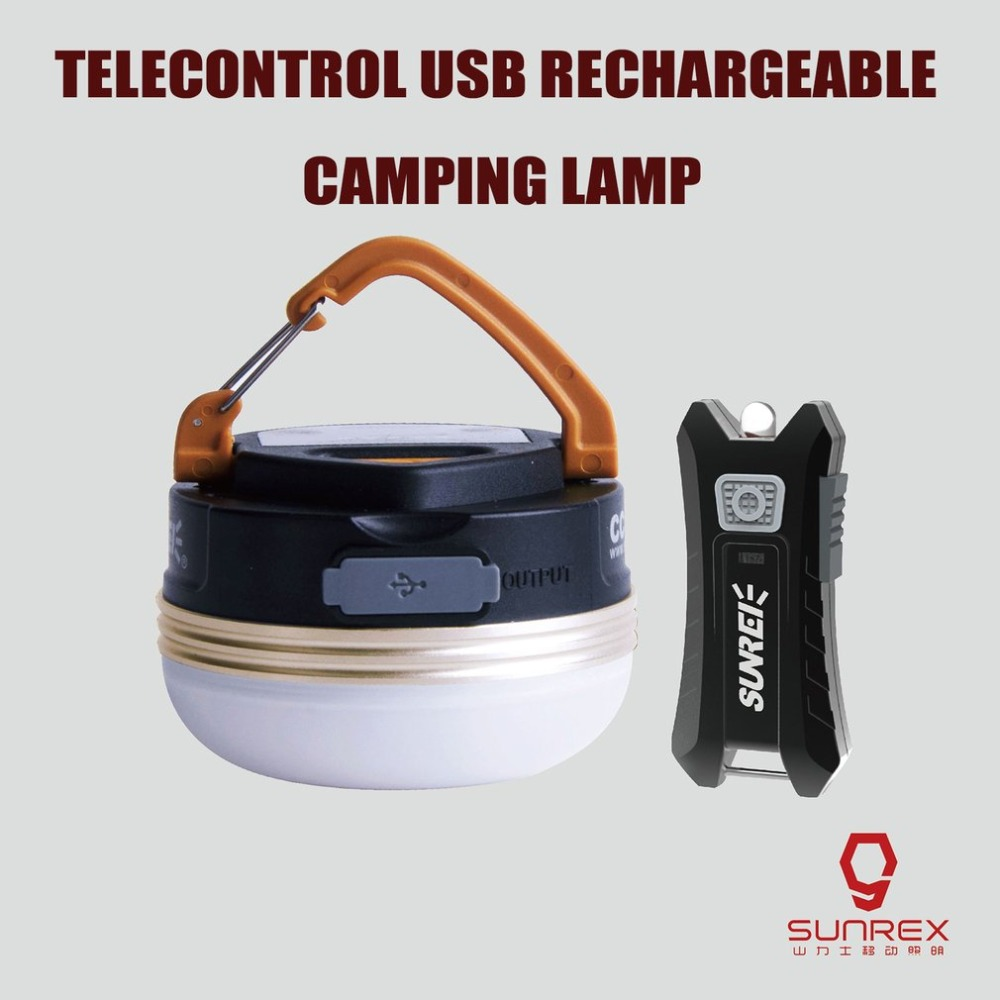 Outdoor Camping Light Mobile Power Bank USB Rechargeable Multi-Function Tent Lamp with Remote Control Light