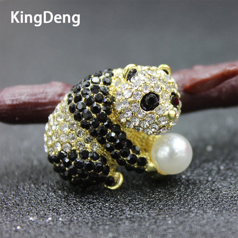 Jewelry & Accessories Weimanjingdian Brand Factory Direct Sale Crystal Rhinestones Panda Brooch Pins For Women