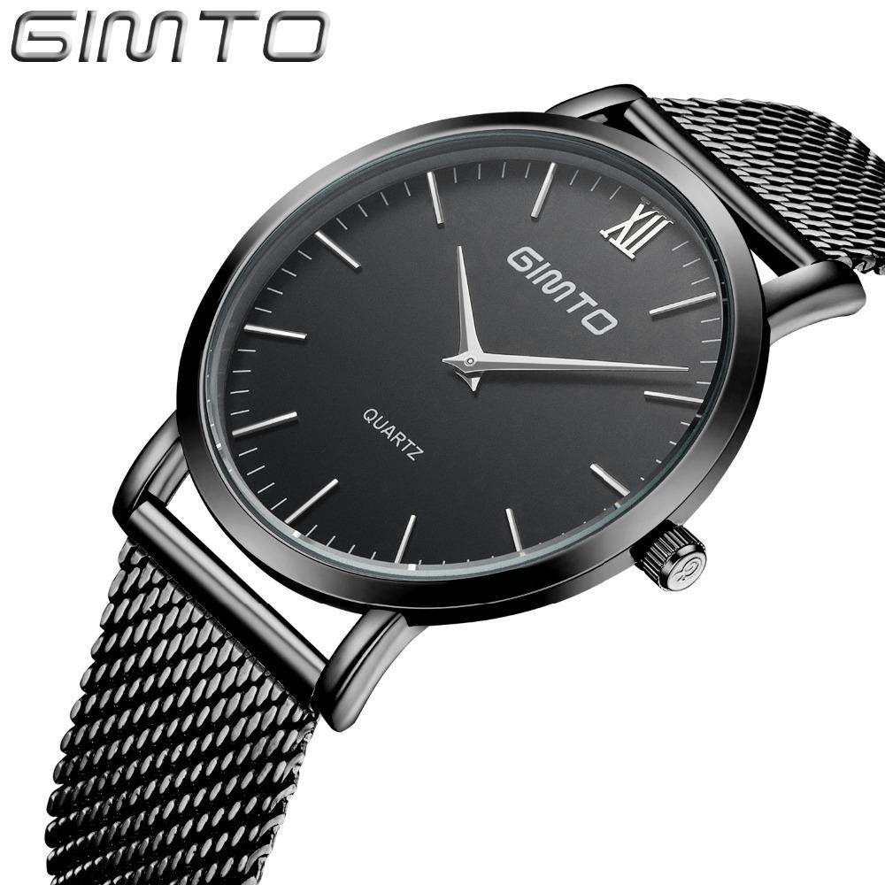 Prix pour 2016 Montres hommes marque de luxe Mince simple design du cadran montre à quartz en acier plein montres casual montre mâle montre mujer