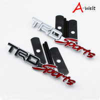 Car 3D Metal TRD Sports Car Sticker Emblem Decal Badge Fit For Toyota Corolla Avensis
