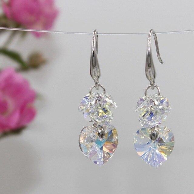 Купить популярные модные разноцветные серьги с кристаллами украшения картинки
