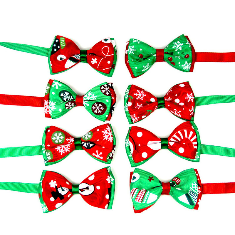 Festive Christmas Cat Bow Collars