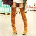 Botas femininas квартиры над сапоги блестящие зимние сапоги кружева до плюшевые теплые ботинки женщин мартин рыцарь снегоступы 23-25.5 см ноги