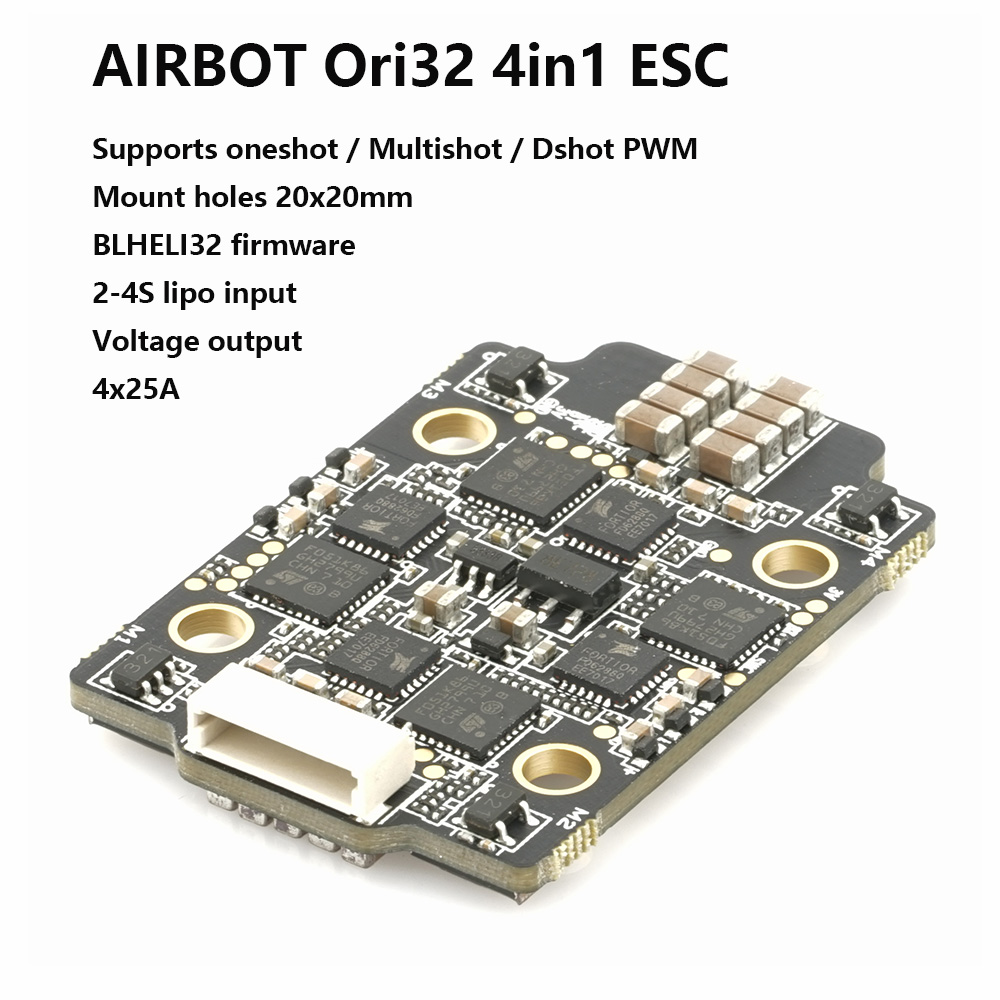 AIRBOT Brushed Ori32 4in1 ESC 4x25A 2020 Supports DSHOT 1200 Blhelis 25a Built Current Sensor Brushed ESC 30a For Fpv Quadcopter lih airbot brushless blheli32 bit esc