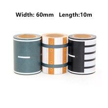 Купить Новый X3 60 мм x 10 м черный, Белый Цвет Набор декоративных Scotch Клейкие ленты клей железная дорога Васи Клейкие ленты S для детей игрушка