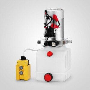 Image 5 - Bomba hidráulica de acción única, 4 Quart, volcado, remolque, elevador, unidad de potencia de coche