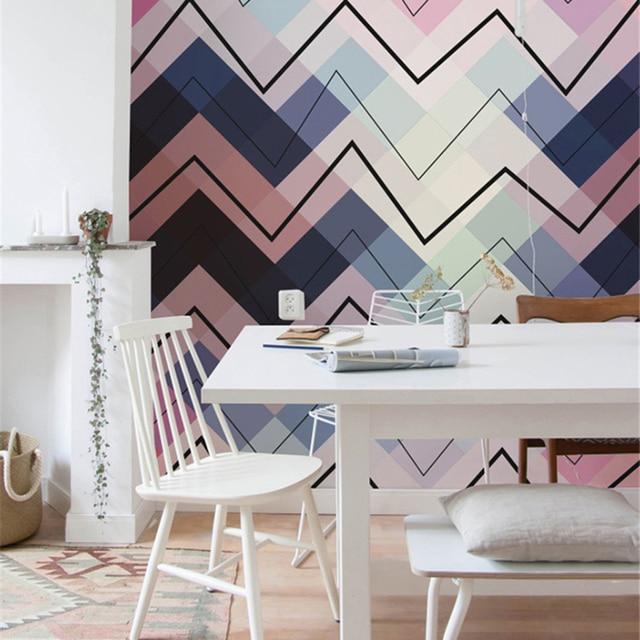 Gefärbte dreieckige wellen wohnzimmer hintergrund 3D Wallpaper ...