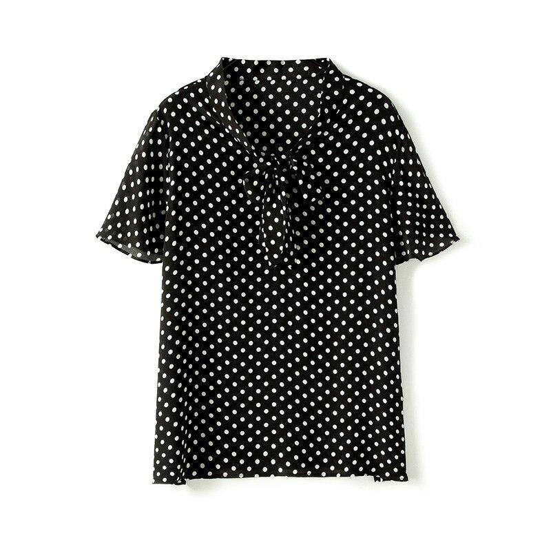 Das 2019 Mulheres Novas Roupas Ol de Colarinho Em Pé de Vento Cor Sólida Camisa De Seda Das Mulheres de Manga Longa Top Cardigan Blusa camisas das mulheres - 5