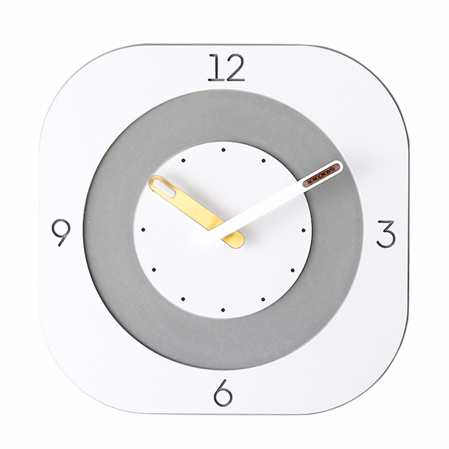 Square Clocks Wall Home Decor Home Fashion Mute Charms Wall Art White Home Clock New Luxury Klok Living Room Decoration Discount