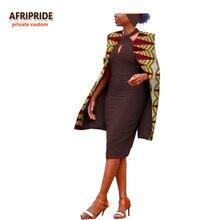 2017 autumn african style women coat AFRIPRIDE private custom casual sleeveless long coat super batik cotton plus size A722405