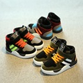 2016 brand design casual stripes pig leather sport school children girls warm sneakers kids boys Winter shoes boy fashion boots